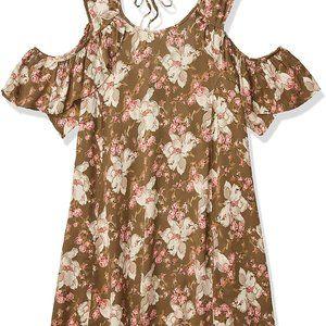 Angie Rayon Floral Cold Shoulder Dress